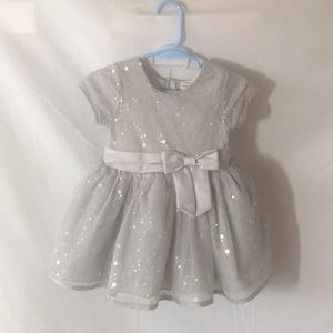 Nanette Lepore Silver Dress with Diaper Cover